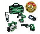 Hitachi KC18DBL 18V Li 4-Tool Combo Kit