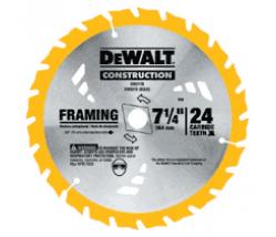 """Dewalt DW3578 7-1/4"""" x 24T Framing Circular Saw Blade"""